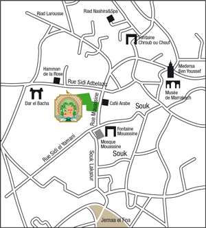 Map of Le Jardin Secret Marrakech
